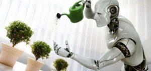 Картинка с роботом, который убирает